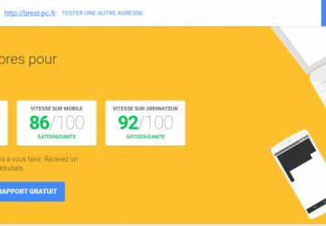 test de performance de site internet mobile